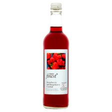 Tesco Finest Strawberry And Raspberry Cordial 500Ml