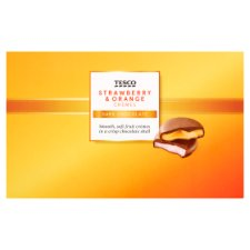 Tesco Strawberry And Orange Creme 100G