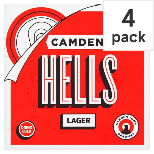 image 1 of Camden Hells Lager Can 4 X 330Ml
