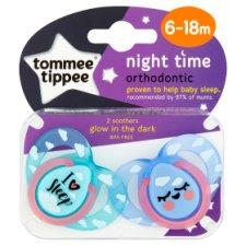 Tommee Tippee Closer To Nature 6-18Mth Night Sootherx2