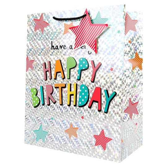 Tesco Happy Birthday Foil Bag Large
