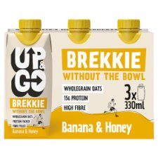 Up And Go Banana And Honey Brekkie 3X330ml