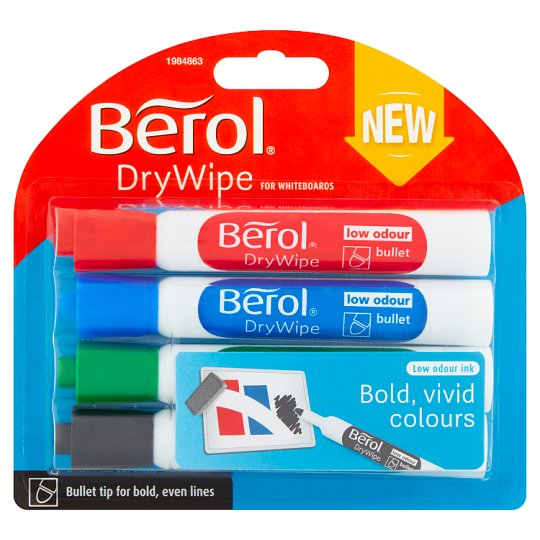 Berol Whiteboard Markers 4 Pack
