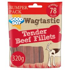 Wagtastic Treat Beef Fillets 320G