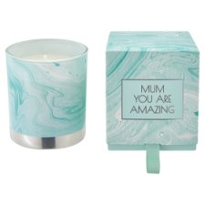 Tesco Marble Boxed Candle Green
