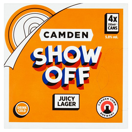 Camden Show Off Lager 4X330ml Can
