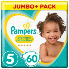 Pampers Premium Protection Size 5 Jumbo+ 60 Nappies