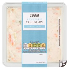 Tesco Reduced Fat Coleslaw 600G