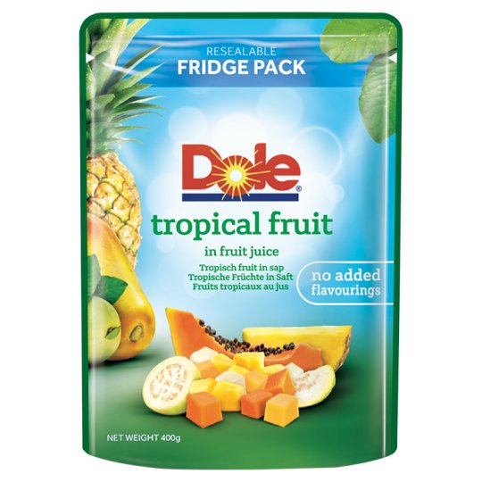 Dole Tropical Fruit In Juice Pouch 400G