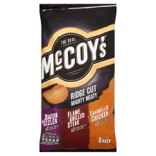 Mccoys Mighty Meat Crisps 6X28.5G