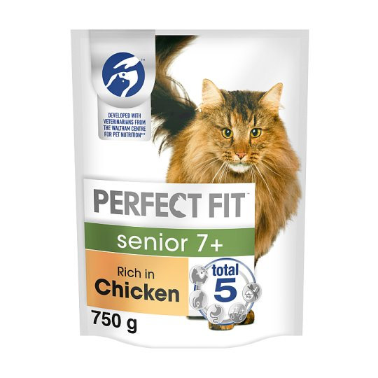 image 1 of Perfect Fit 7+ Chicken Dry Senior Cat Food 750G