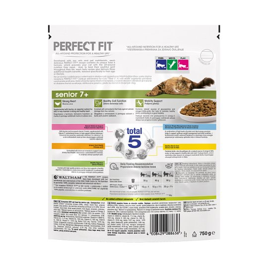 Perfect Fit 7+ Chicken Dry Senior Cat Food 750G