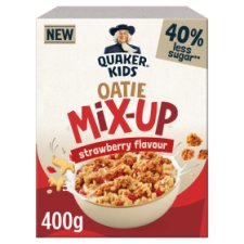 Quaker Kids Oatie Mix Up Strawberry Cereal 400G