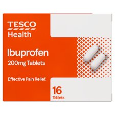 Tesco Ibuprofen 200Mg 16 Tablets