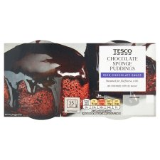 Tesco Chocolate Sponge Puddings 220G
