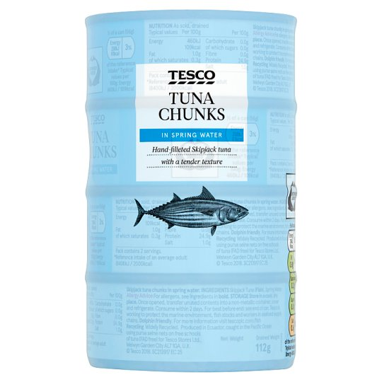 Tesco Tuna Chunks In Spring Water 4 X 160G