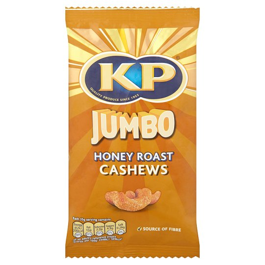 Kp Jumbo Honey Roast Cashews 140G
