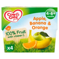 Cow & Gate Apple Orange And Banana Fruit Pot 4X100g 4 Mth+