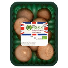 Tesco Organic Chestnut Mushrooms 250G