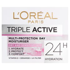 L'oreal Paris Triple Active Day Dry Moisutriser 50Ml