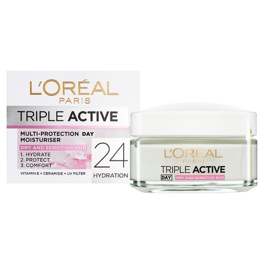 L'oreal Triple Active Day Dry Sensitive 50Ml