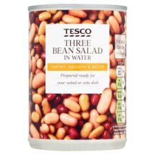 Tesco 3 Bean Salad In Water 400G