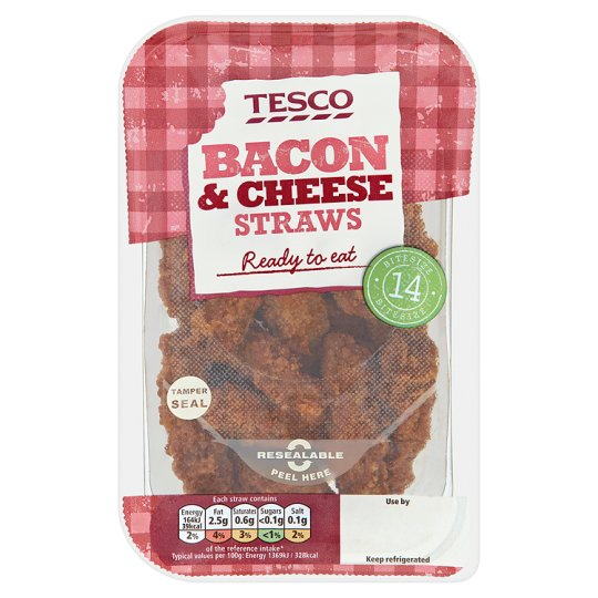 Tesco Cheese And Bacon Straws 168G