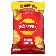 Walkers Ready Salted Sharing Bag Crisps 175 G