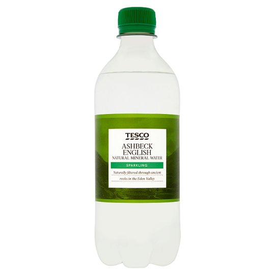Tesco Ashbeck Sparkling Natural Mineral Water 500Ml