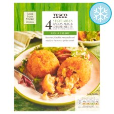 Tesco 4 Vegetarian Bacon Mac And Cheese Melts 280G