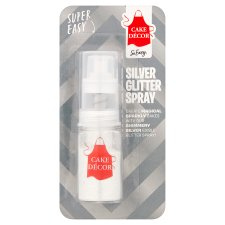 Cake Decor Silver Glitter Spray 4G
