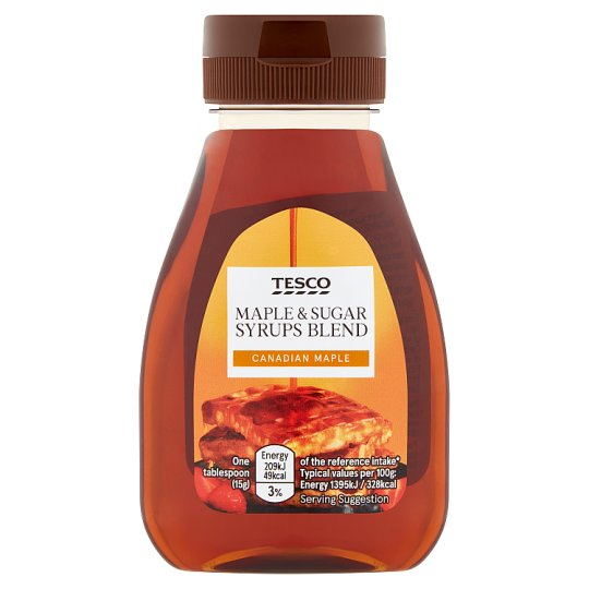 Tesco Maple And Sugar Syrups Blend 240G