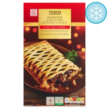 Tesco Mushroom & Meat Free Stuffing Lattice 500G