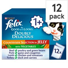 Felix Grilled In Jelly Beef Poult Greenbean12x100g