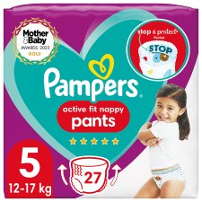 Pampers Active Fit 27 Nappy Pants Size 5 Essential Pack