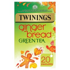 Twinings Green Tea Gingerbread 20 Tea Bags 40G