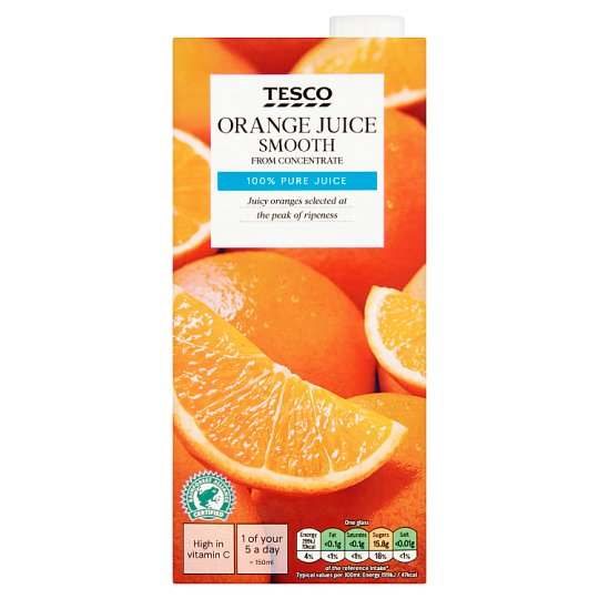 Tesco Orange Juice Smooth 1 Litre