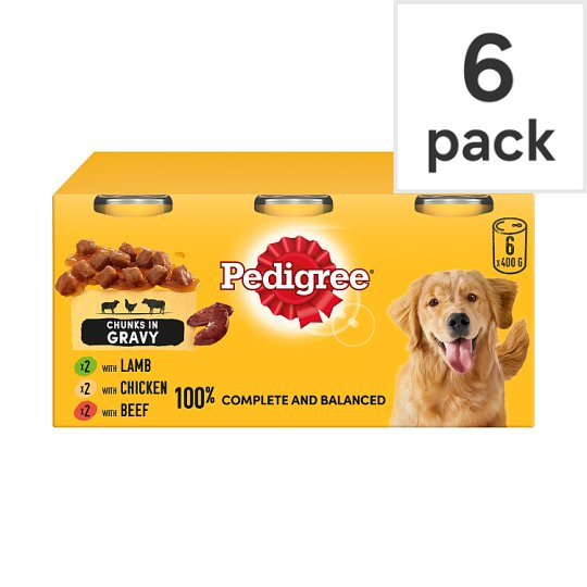 image 1 of Pedigree Dog Food Tins Mixed Variety in Gravy 6x400g