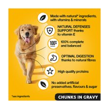 image 2 of Pedigree Dog Food Tins Mixed Variety in Gravy 6x400g