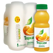 image 2 of Tropicana Orange Juice Original 4 X 250 Ml