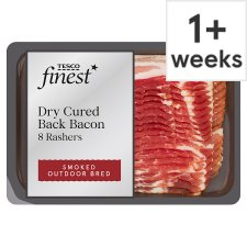 Tesco Finest Smoked Dry Cure Streaky Bacon 240G