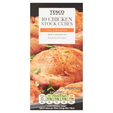 Tesco 10 Chicken Stock Cubes 100G