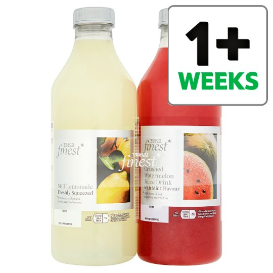 Tesco Finest Squeezed Lemonade Juice 2 X 1 Litre