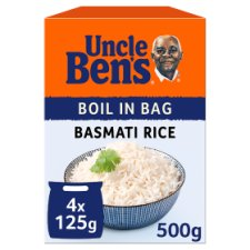 Uncle Bens Boil In Bag Basmati Rice 500G