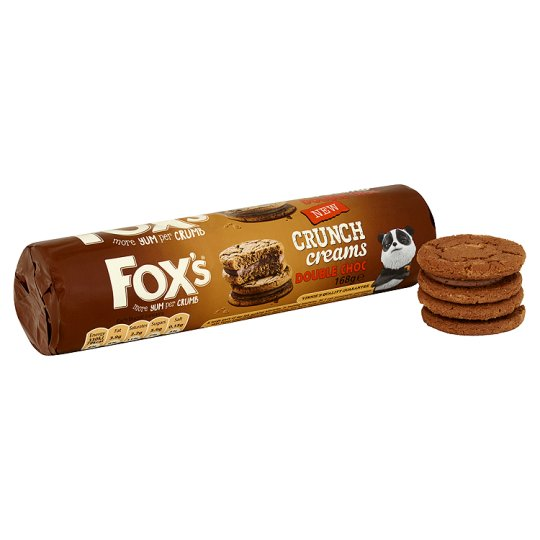 Fox's Double Chocolate Crunch Creams Biscuit 168G