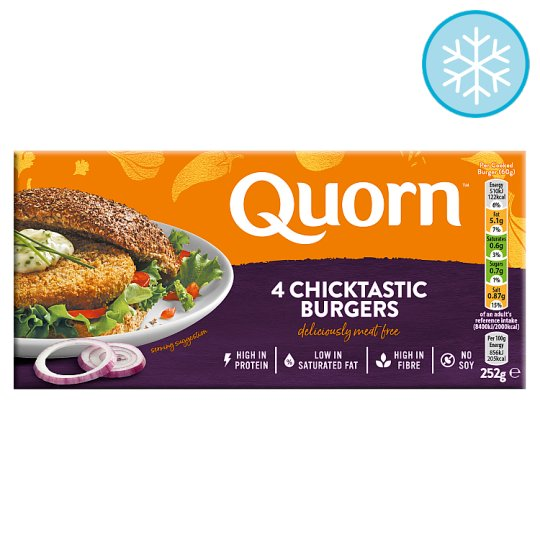 Quorn 4 Chicken Style Burgers 252G