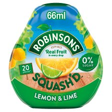 Robinsons Squash'd Lemon Lime 66Ml