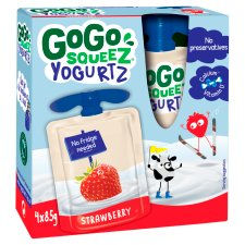 GoGo SqueeZ YoghurtZ Snack Strawberry 4X85g
