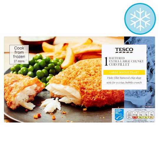 Tesco Extra Large Chunky Cod Fillet 200G