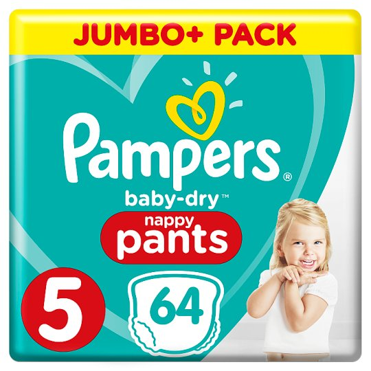 image 1 of Pampers Baby Dry Size 5 Jumbo Plus Pack Nappy Pants 64